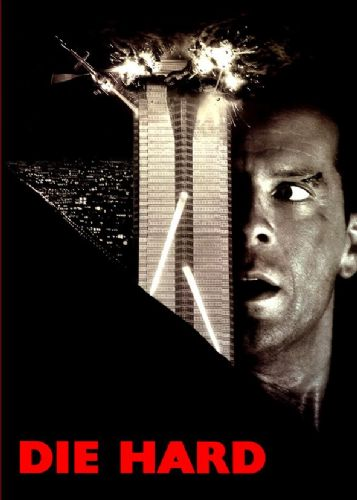 1980's Movie - DIE HARD - BLACKOUT canvas print - self adhesive poster - photo print